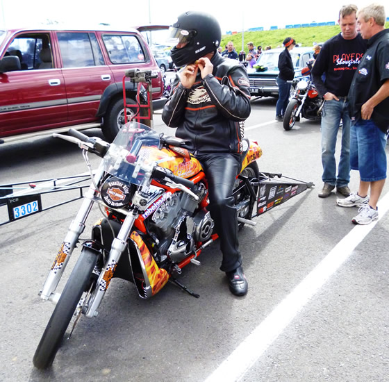 Turbo Harley Drag Race: V-Rod Destroyer Drag Bike Action